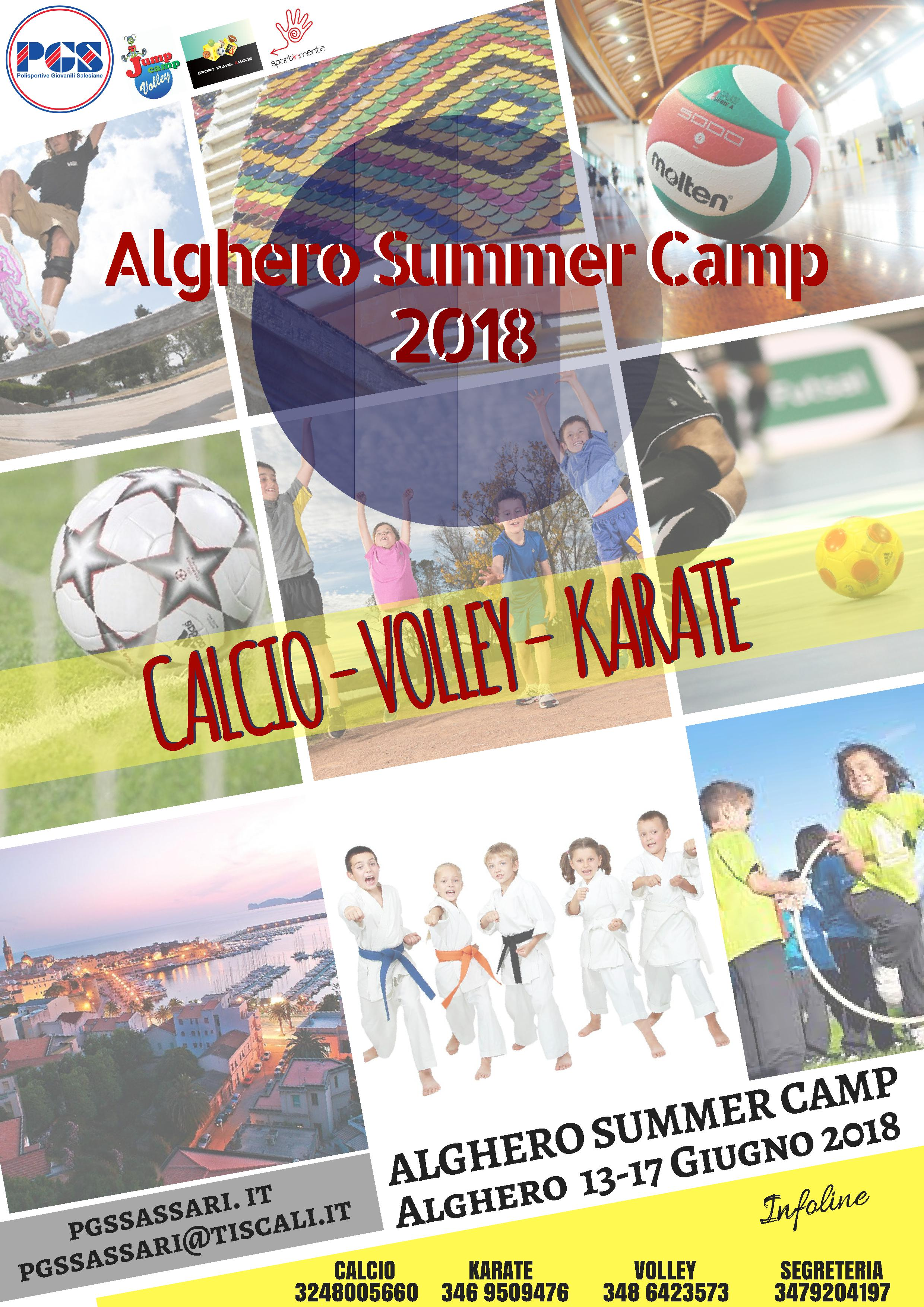 ALGHERO SUMMER CAMP 2018