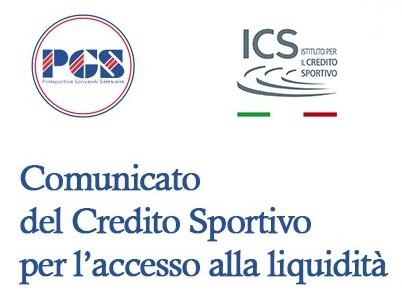 Comunicato del Credito Sportivo per l'accesso alla liquidità